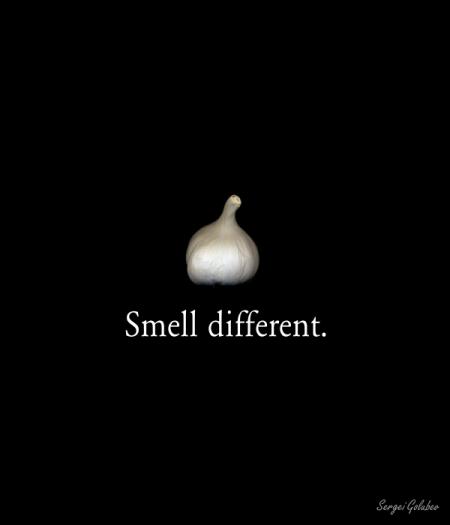 Garlic. Smell different.