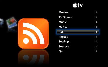 RSS-channels in Apple TV
