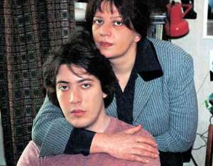 """T. Tolstaya with her beloved son A. Lebedev.  Photos - """"Weekly magazine"""""""