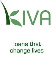 Kiva logo and slogan