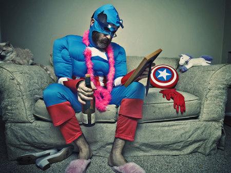 пьяный супергерой