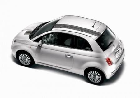 Fiat 500. In appearance - the usual urban minicar