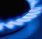Горит газ