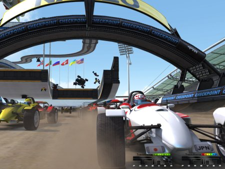 Screenshot from Trackmania Nations Forever
