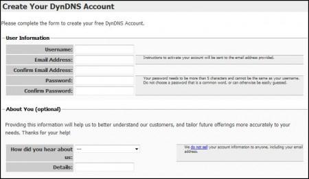 Форма регистрации. Ничего сложного, обычные данные. После надо будет на почтовом ящике активировать аккаунт в пришедшем писме пройдя по ссылке.