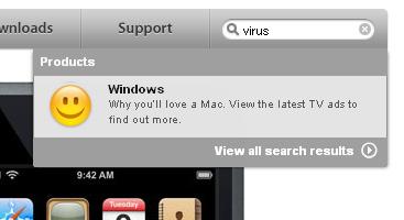 windows virus apple