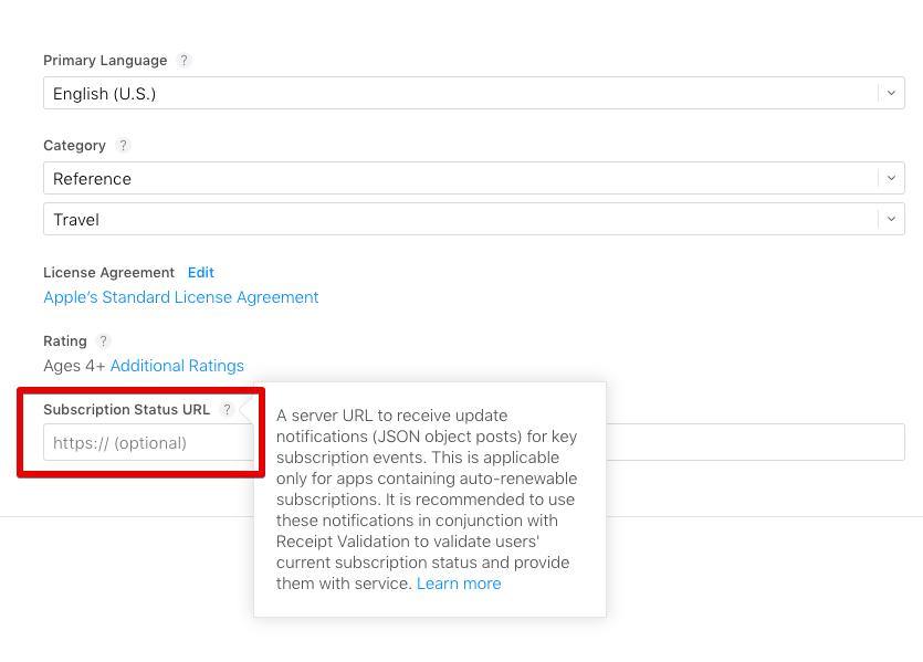 Настройка Apple Subscriptions Status Update Notifications