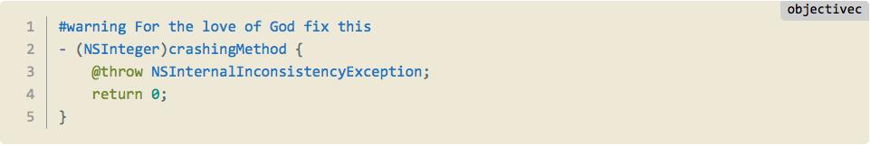 Как отметить свои TODO, FIXME и ERROR в Xcode