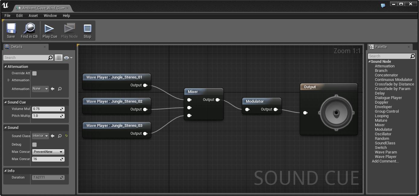 Туториал по Unreal Engine. Часть 7: звук