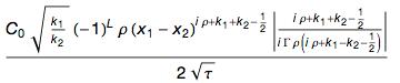 Формула с Тау, а