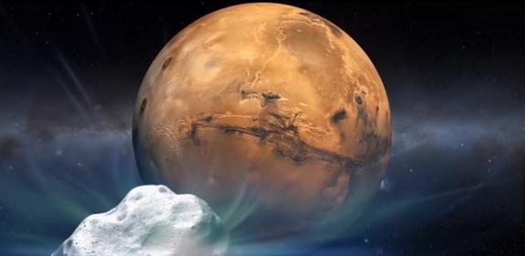 NASA готовится к изучению кометы Сайдинг Спринг, приближающейся к Марсу