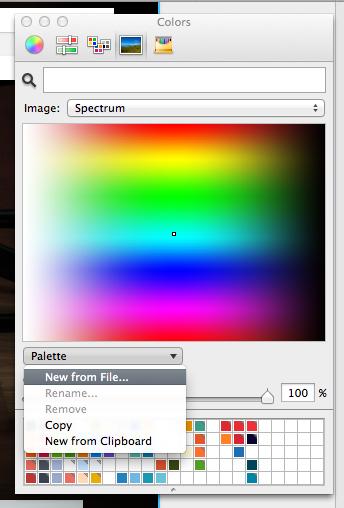 цвета в панели