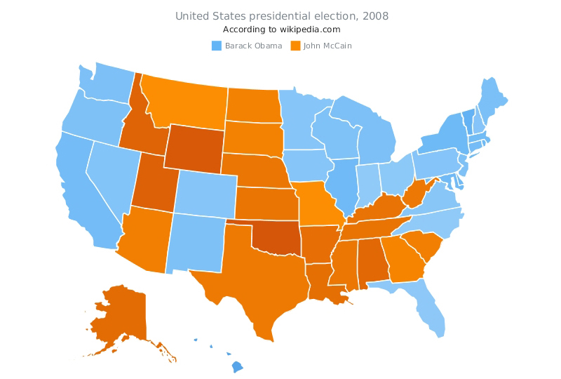 AnyMap – US Presidential Election 2008