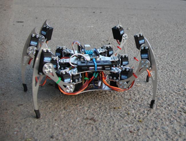 Hexapod-робот под управлением ROS
