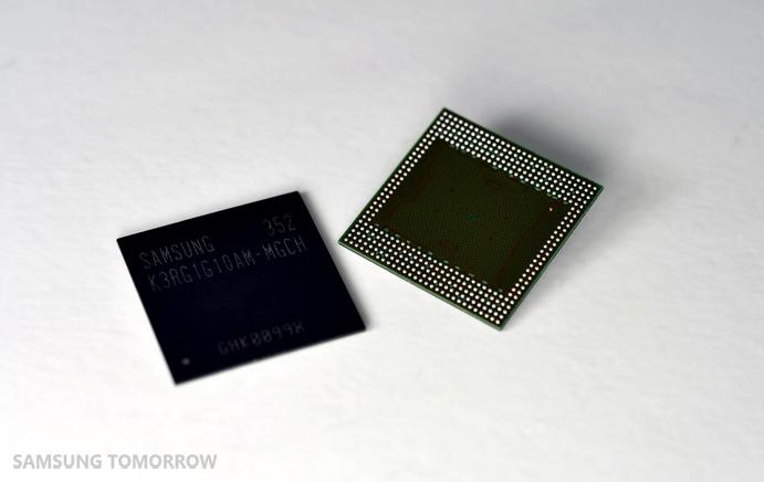 Коротко о новом: Samsung разработала первый в мире 8-гигабитный модуль мобильной DRAM-памяти LPDDR4