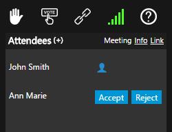 Запит на підключення користувача 3CX WebMeeting