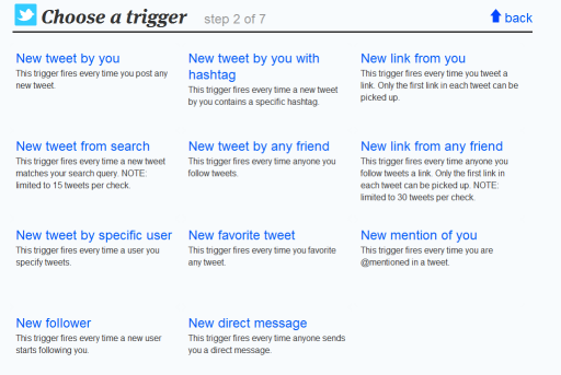 ifttt twitter triggers