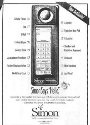IBM Simon Says Hello