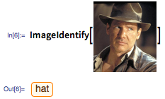When we gave it a picture of Indiana Jones, it zeroed in on the hat