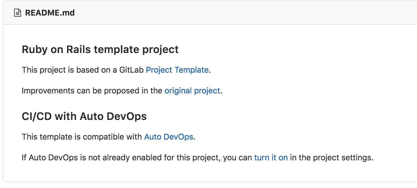 Project templates now work with Auto DevOps