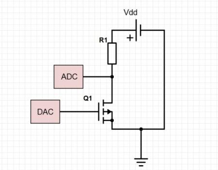 Q1 — полевой транзистор