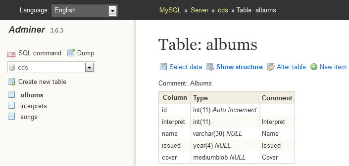 Adminer — веб-интерфейс для баз данных размером в один .php файл