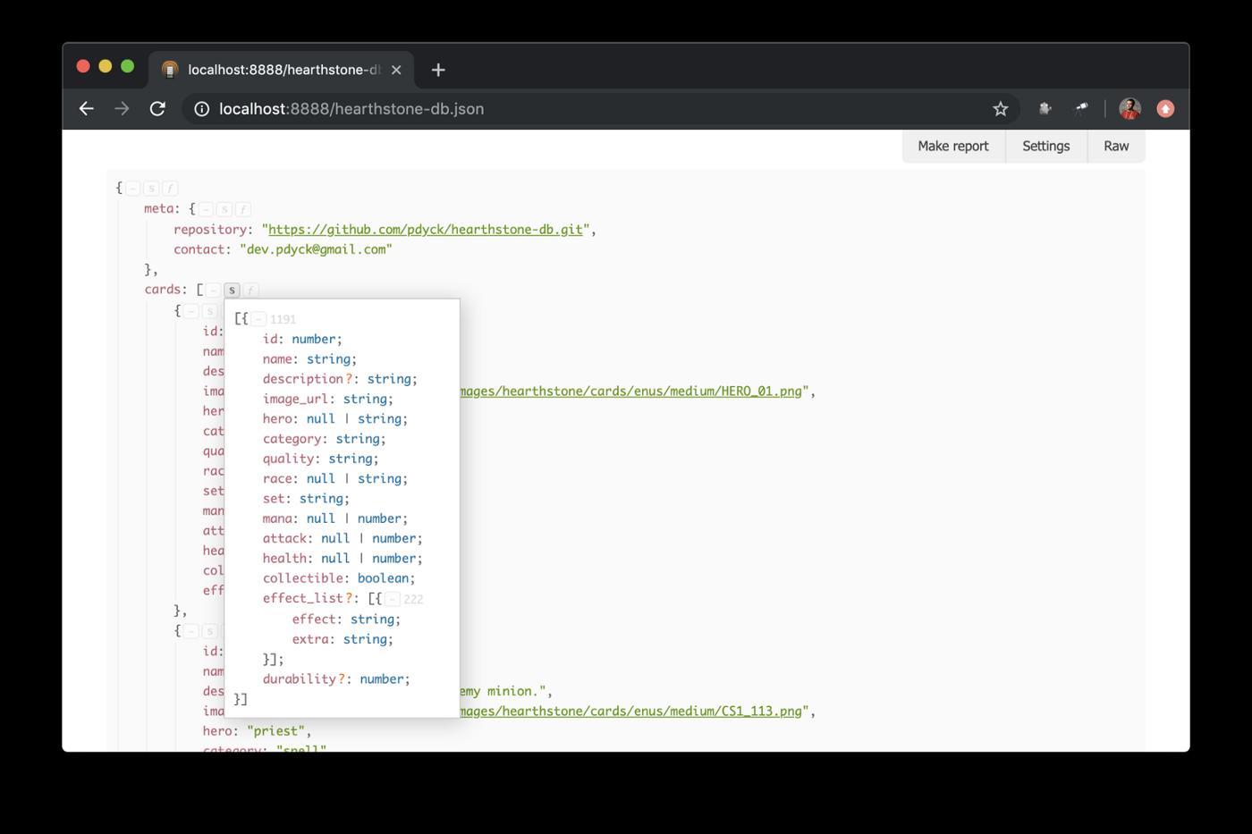 Сигнатура структуры данных как в TypeScript, удобно для набора объектов