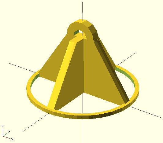 Подвешиваем CD-диск, или практический пример моделирования на базе OpenSCAD для 3д печати