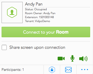 Налаштування конкретного облікового запису з номером кімнати