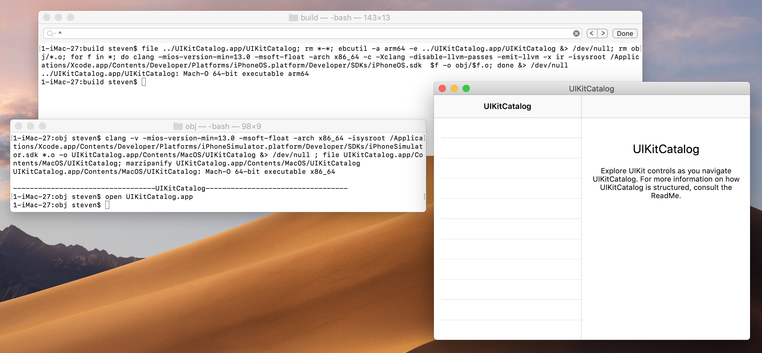 Automatic transfer of iOS applications (ARM) to macOS (x86) using