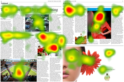 Eye tracking : carte de chaleur