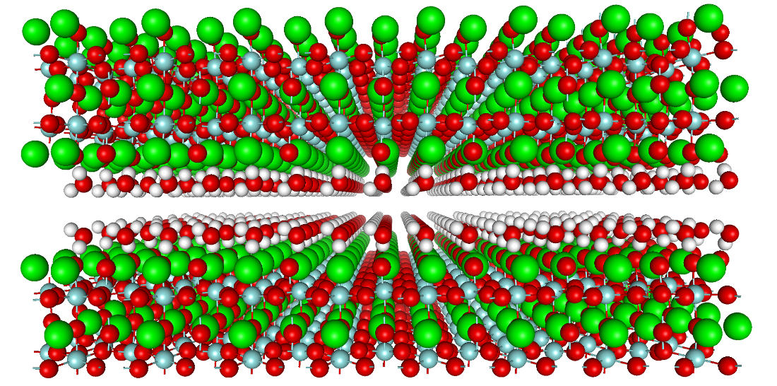 Water adsorption on perovskite surface