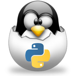 tux in egg in python