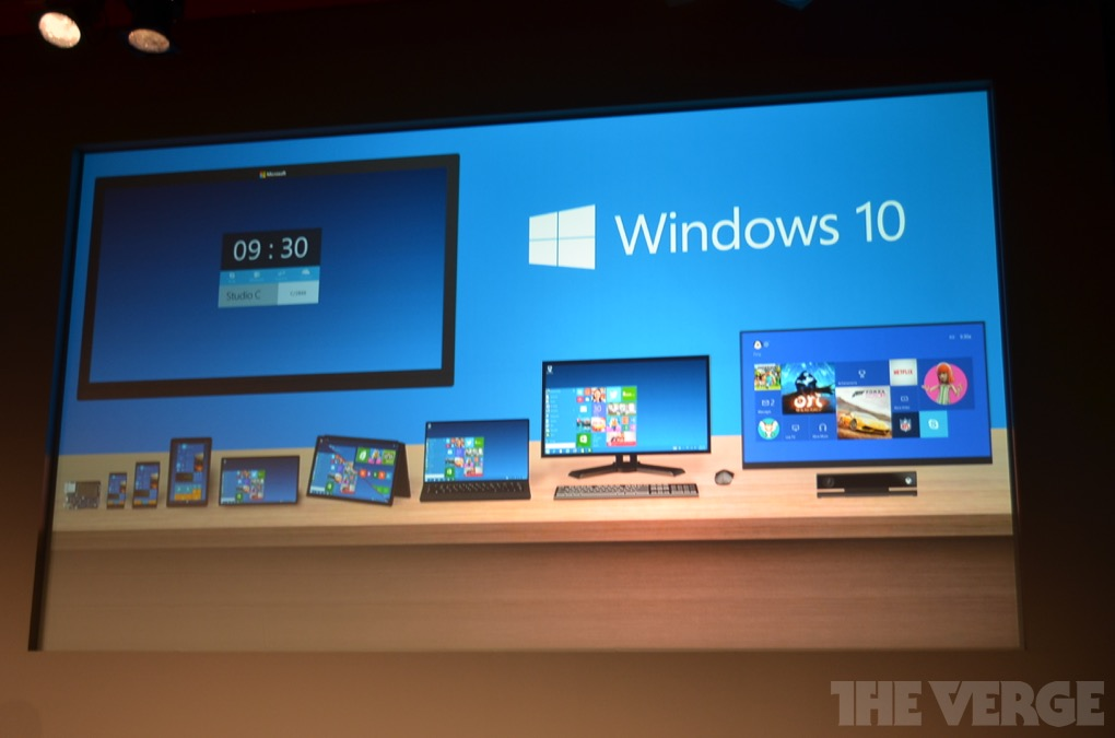 Текстовая трансляция с презентации Windows 10!!!