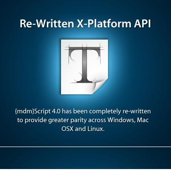 Re-Written X-Platform API Zinc 4.0