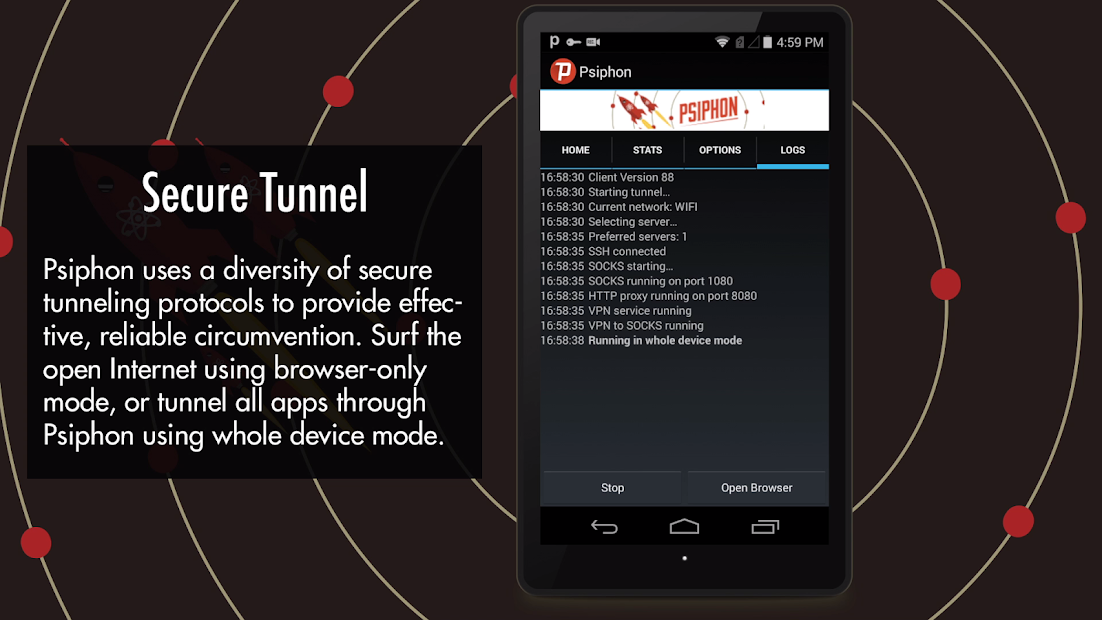 Psiphon App, Android