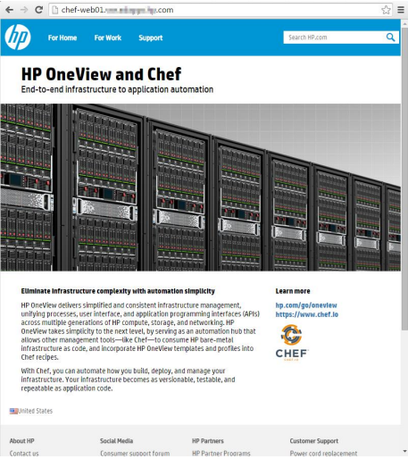 Recipes from CHEFa: the automated expansion of environments of business applications with use of HPE OneView