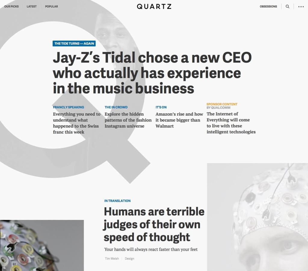 Traditional Homepages Are Obsolete, Says Quartz. Here's What They Built Instead
