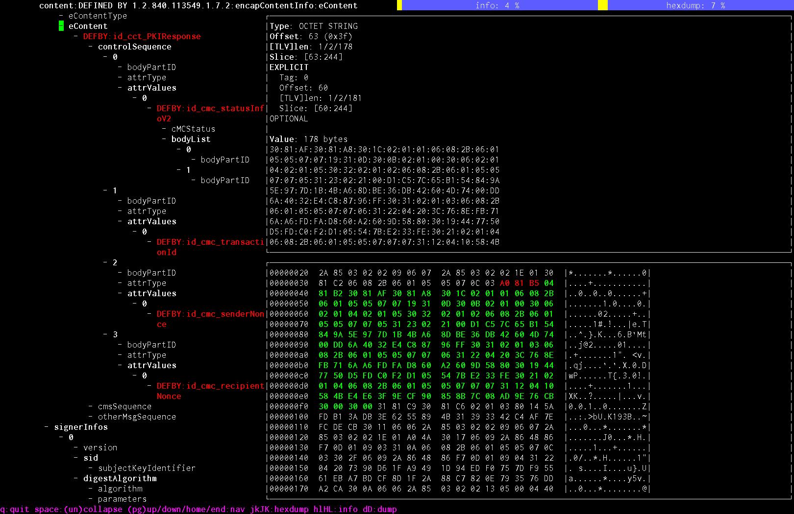ASN.1 browser