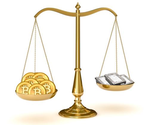 Предполагаемый размер базы транзакций Bitcoin