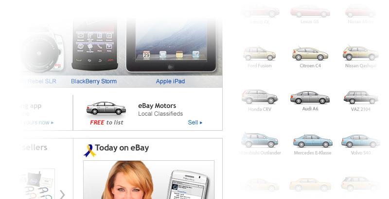 eBay steal car icon