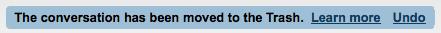 Отмена удаления в Gmail