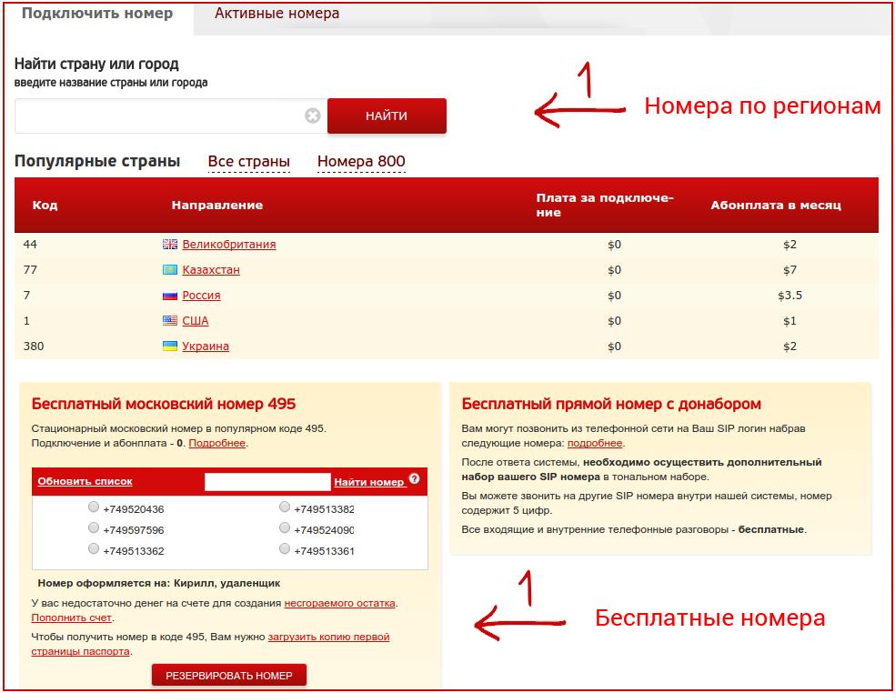 ffbb215df22ff3 Выберем из списка доступных виртуальных номеров нужные города и страны.  Номера уже преднастроены и сразу после покупки входящие маршрутизируются на  Zadarma.