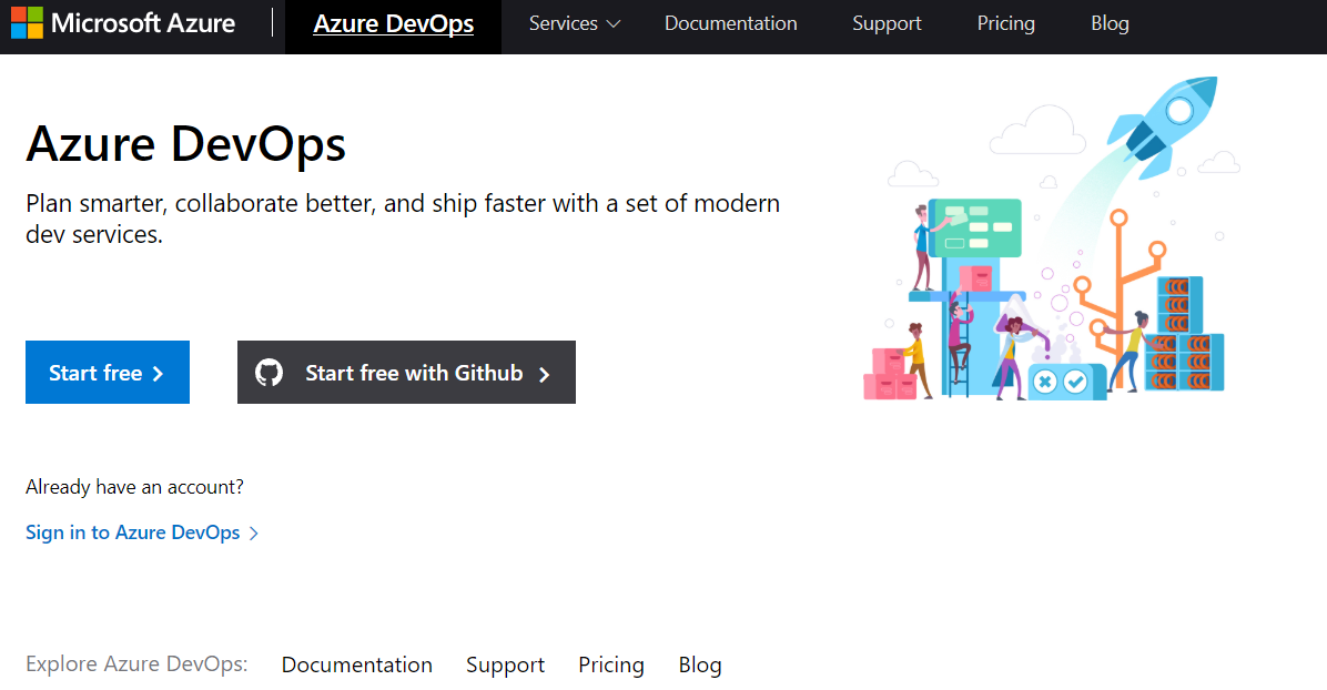 Azure DevOps sign in with GitHub
