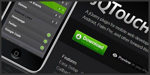 jQTouch – jQuery Plugin For Mobile Web Development