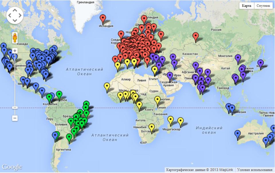 Java User Groups International Map