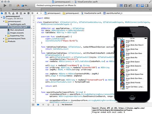 Разработка iOS8 приложения на Apple Swift