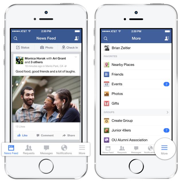 Новый мобильный фреймворк для A/B тестирования от Facebook. Редизайн навигационной панели для iOS 5,6&7