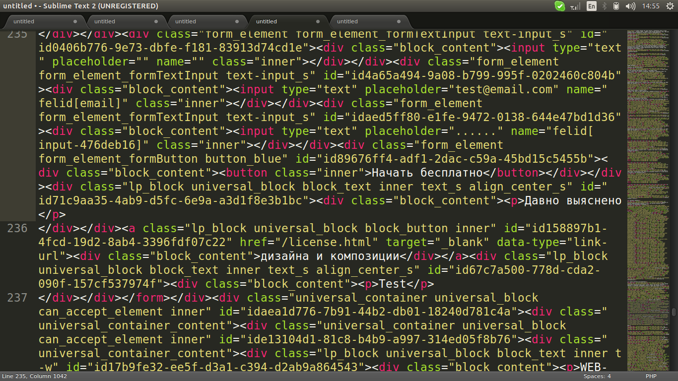 bad format html