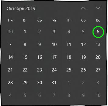 6 октября 2019 года